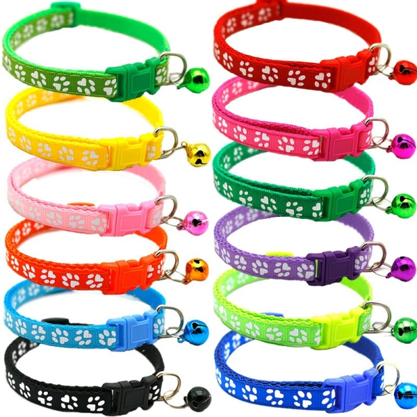 Cat Collar and Bell with Safety Quick Release Break Away Buckle Suitable and Adjustable (12 Pcs) Adjustable 19-32cm