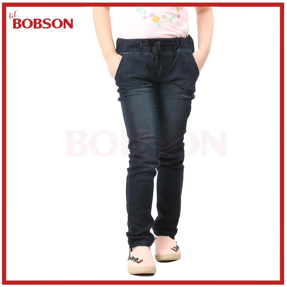 f17e7401358 Lil Bobson Kids Denim Garterized Lareen Denim Pants for Girls Skinny Jeans