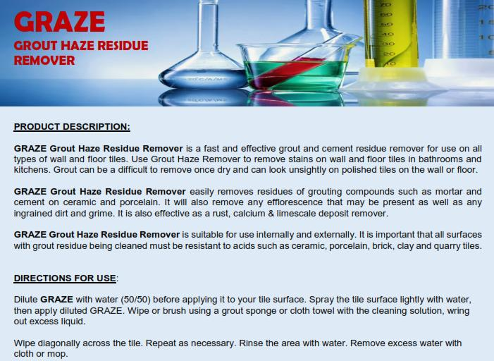 Ionix Graze Grout Haze Residue Remover Liter