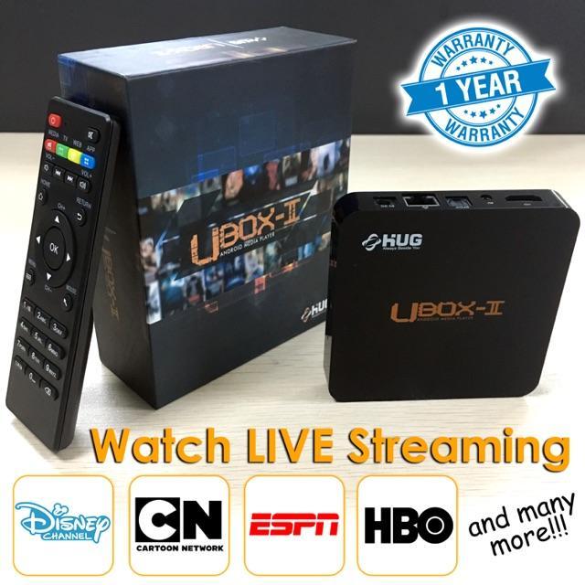 HUG Ubox II 4K Ultra HD Android TV Box Nougat 7.1 6GB