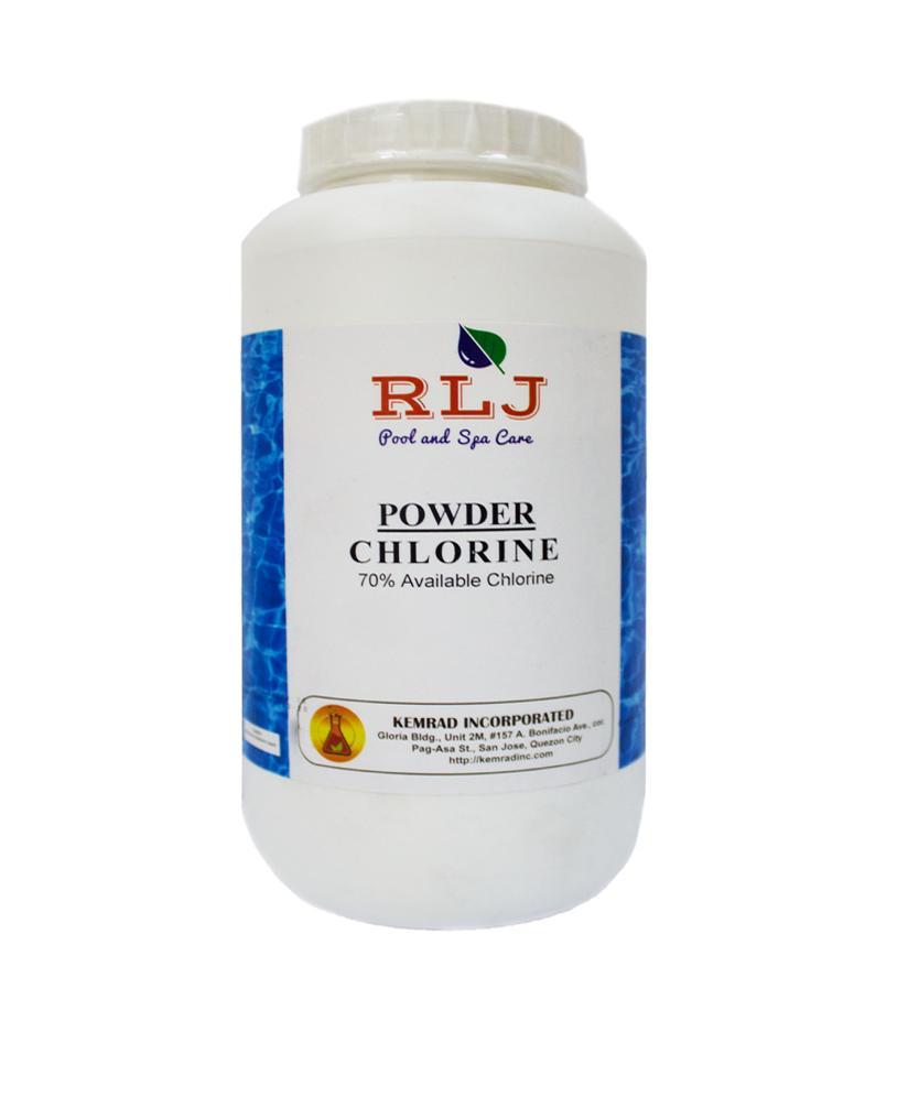 Rlj Powder Chlorine 70% 1 Kilo By Kemrad Incorporated.