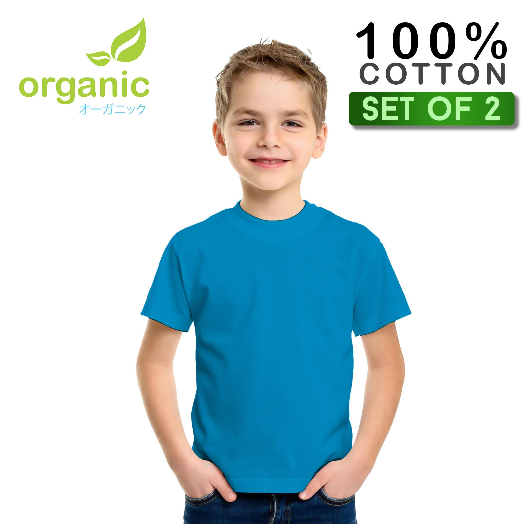 Organic Kids Round Neck (set Of 2) Tees T Shirt Tshirt Shirts Tshirts Tops Top For Kids By Organic.