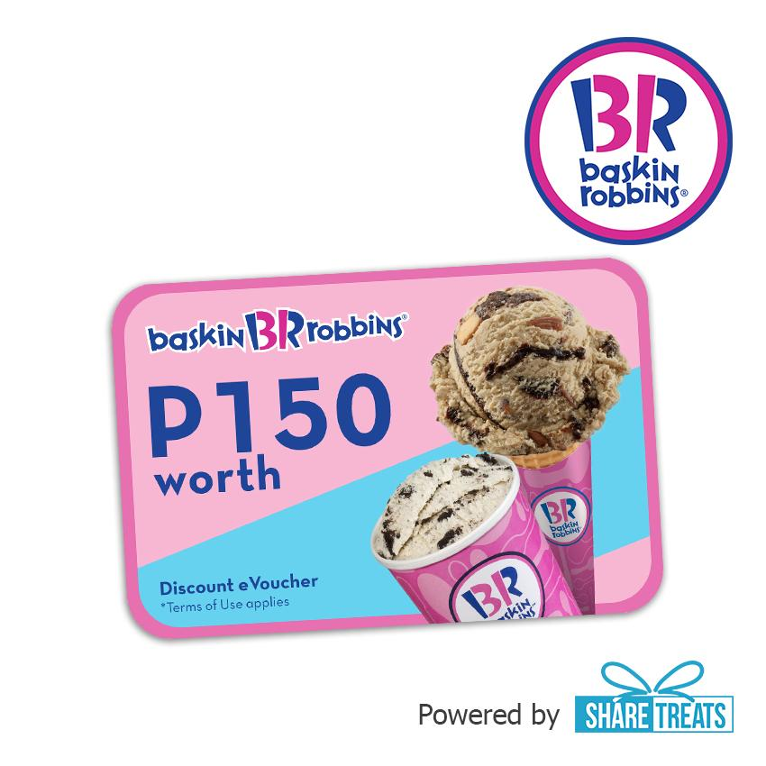 Baskin Robbins P150 Worth Voucher (sms Evoucher) By Share Treats.