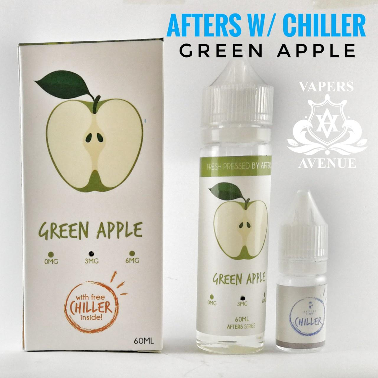 Afters with Chiller - Green Apple 3mg vape juice menthol e-juice fruity e-liquid