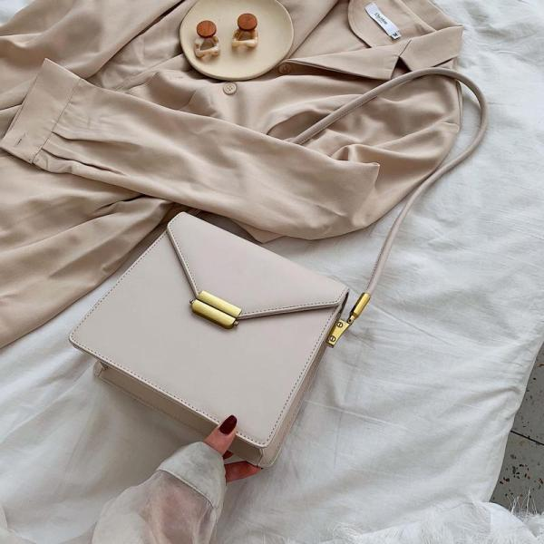 Vintage CHIC WOMENS Bag Package New Style 2020 Online Celebrity Popular Hong Kong Style Fashion Western Style Versatile Shoulder Square Sling Bag
