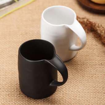 แก้วมัคแก้วกาแฟเอกลักษณ์เรียบง่ายถ้วยเซรามิกคู่รักแก้วคู่การทำงานกระติกน้ำความจุขนาดใหญ่แก้วมัค