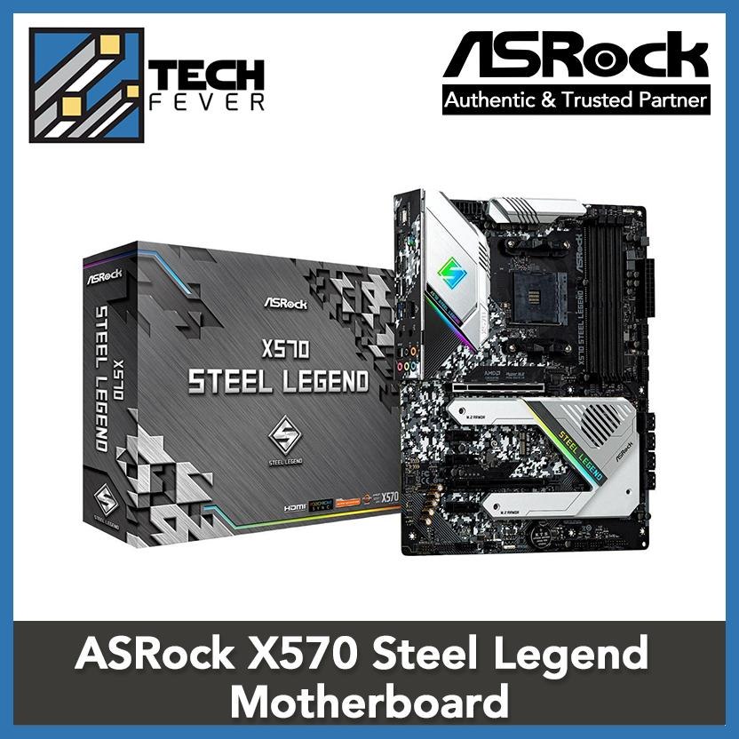 [Black Friday Sale] ASRock X570 STEEL LEGEND AM4 AMD X570 SATA 6Gb/s ATX AMD Motherboard [Discount Event]