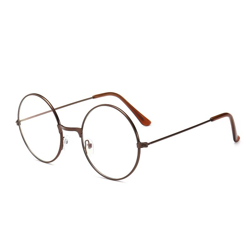 fba3bd5c60 Vintage Glasses women Small round Frame Literature And Art Ultra-Light Anti  Blue-ray