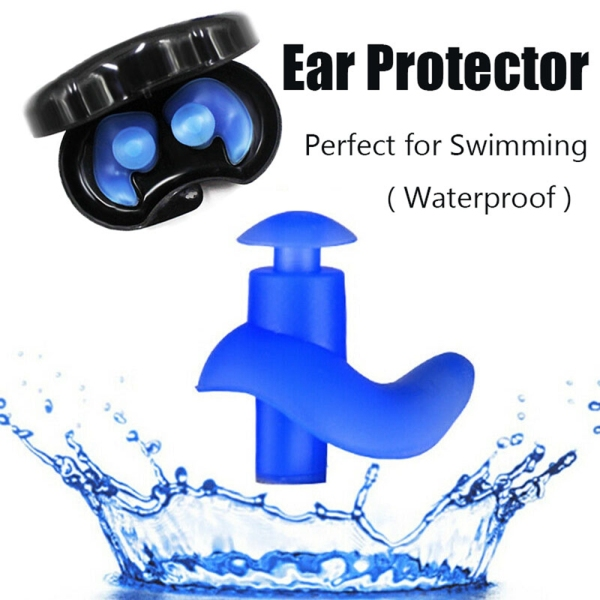 ANLXOM Protection Soft Silicone Safety Supplies Pool Accessories Swimming Noise Cancelling Earplugs Ear Plugs Noise Reduction Ear Protector