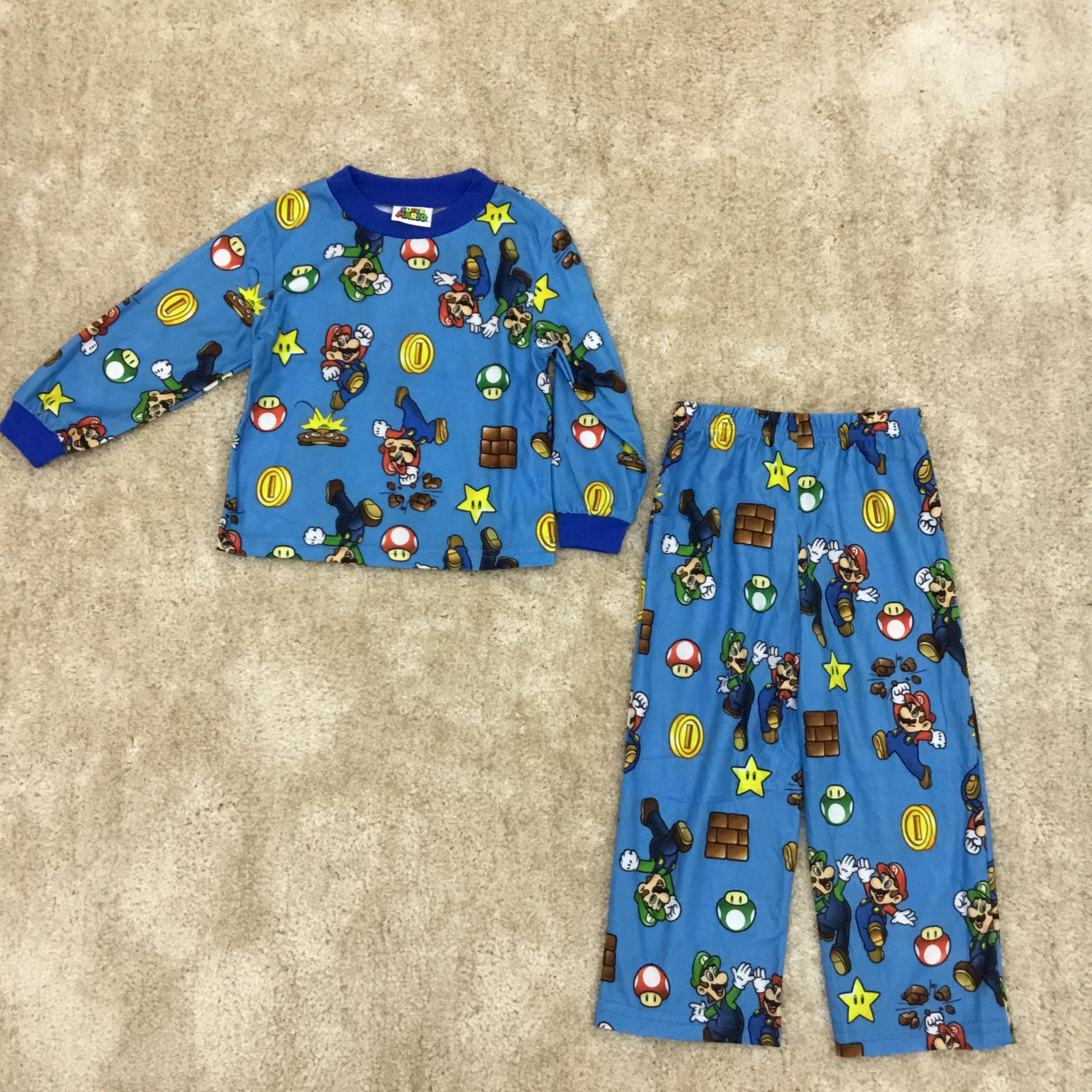 Super Mario. Print Pajama Set Limited Edition Sale! By Discount Store.