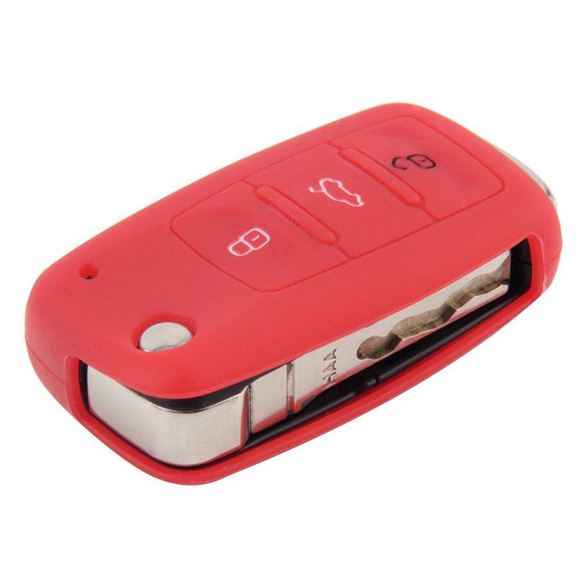 OH Car Remote Key Silicone Cover Case for Volkswagen VW Series (Red)