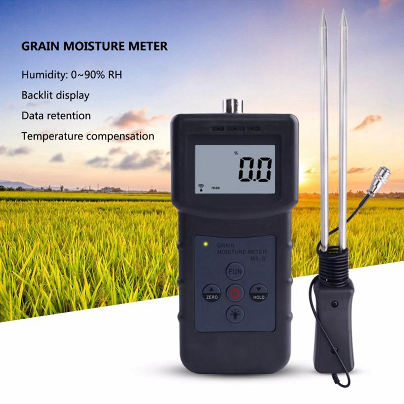 Grain Moisture Meter Tester for Barley,Corn,Hay,Oats,Rapeseed,Rough Rice,Sorghum,Soybeans,Wheat Flour,Cocoa