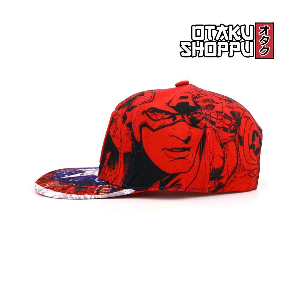 Otaku Shoppu Unisex Fashionable Snapback Cosplay Cap(CAPTäIN AMERICA CAP)