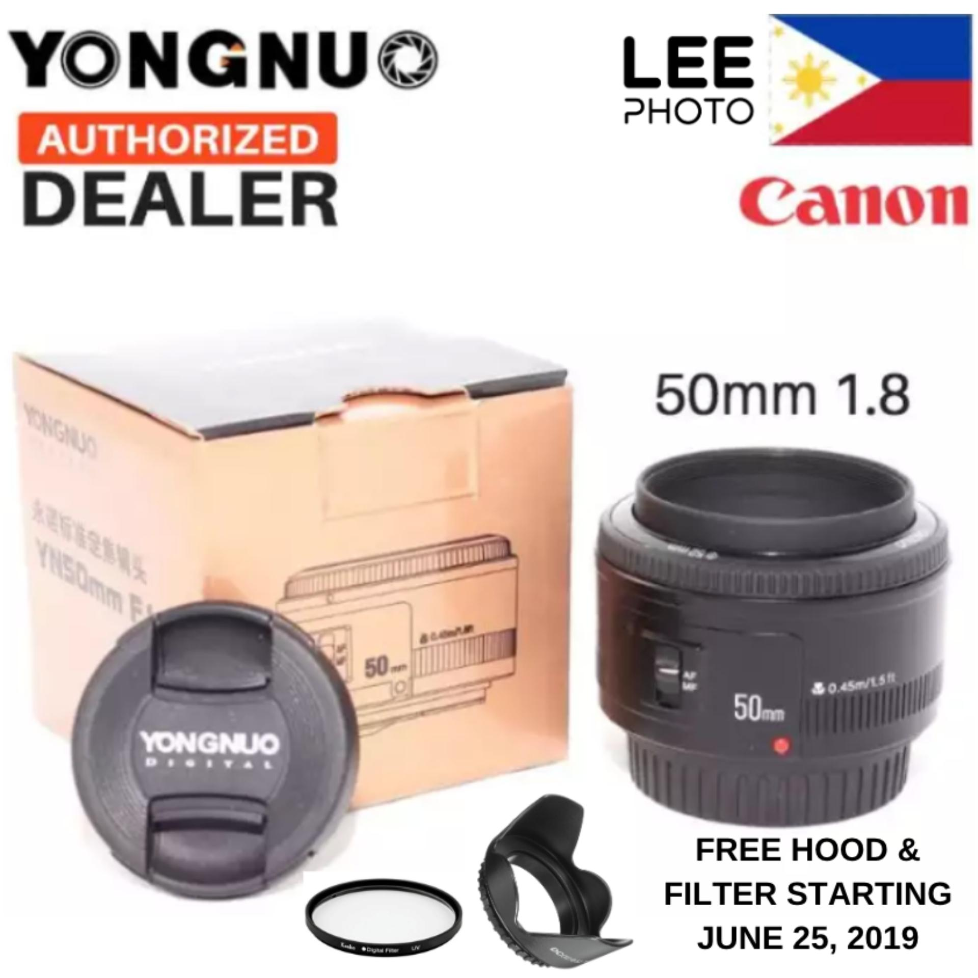 Yongnuo 50MM YN50MM 50mm f/1 8 Prime Lens for Canon EF Auto Focus (Lee  Photo) 50mm f1 8