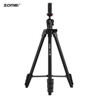 ZOMEI T50 Portable Tripod Aluminum Alloy Selfie Travel Phone Tripod Max. Height 134cm 52.8in Max. Load Capacity 3kg with Ball Head Carrying Bag Shutter Phone Clamp Shutter Clip for Landscape Product Portrait Photography Live Streaming thumbnail
