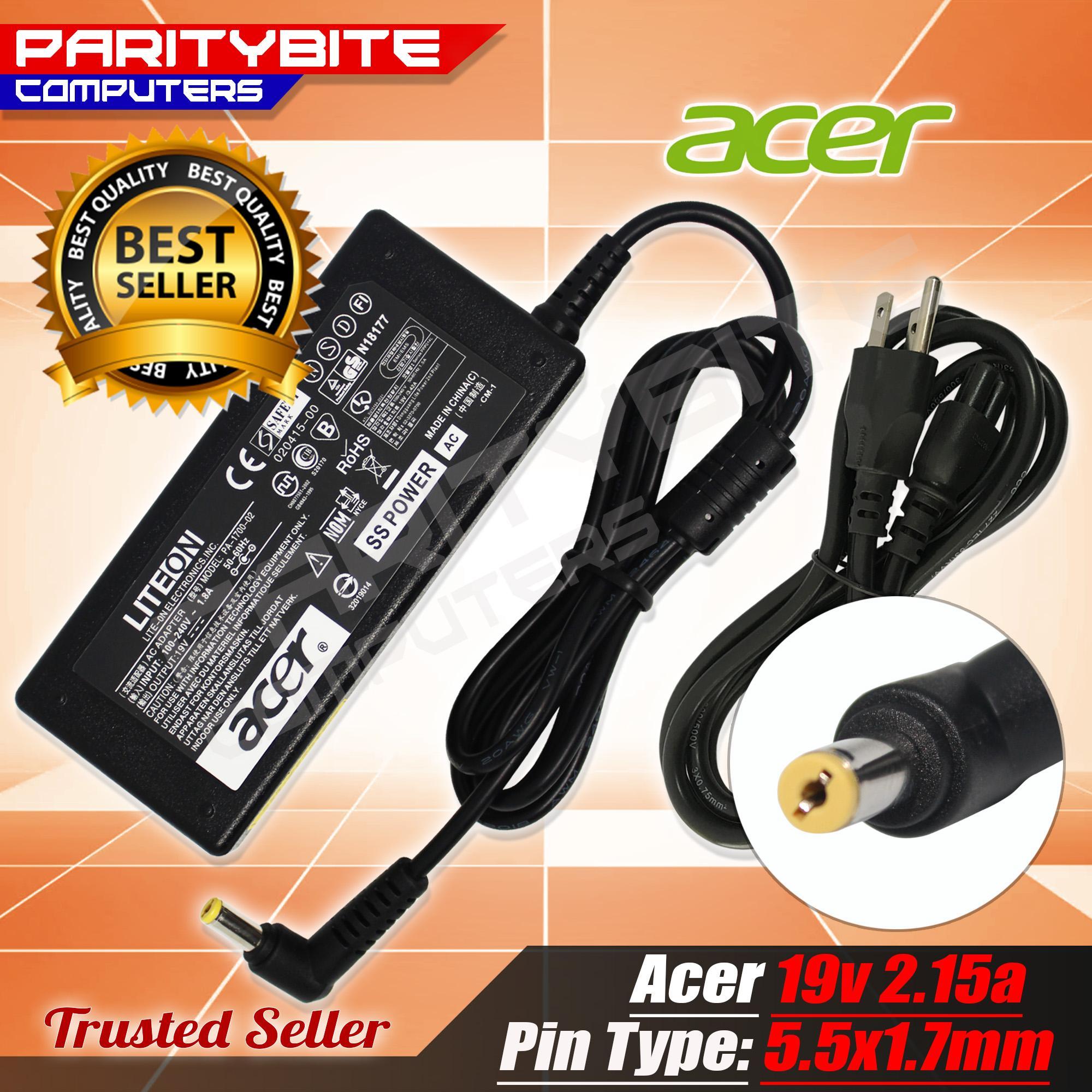 Acer Laptop Charger 19v 2.15a /19V 2.1a (5.5x1.7mm)