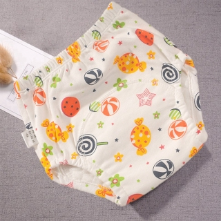BEROSE Có thể giặt được Có thể tái sử dụng Sơ sinh chiếc máy bay Kẹo Bạch tuộc Quần short huấn luyện cho trẻ sơ sinh Tã lót trẻ em Tã giấy hoạt hình Bông thumbnail