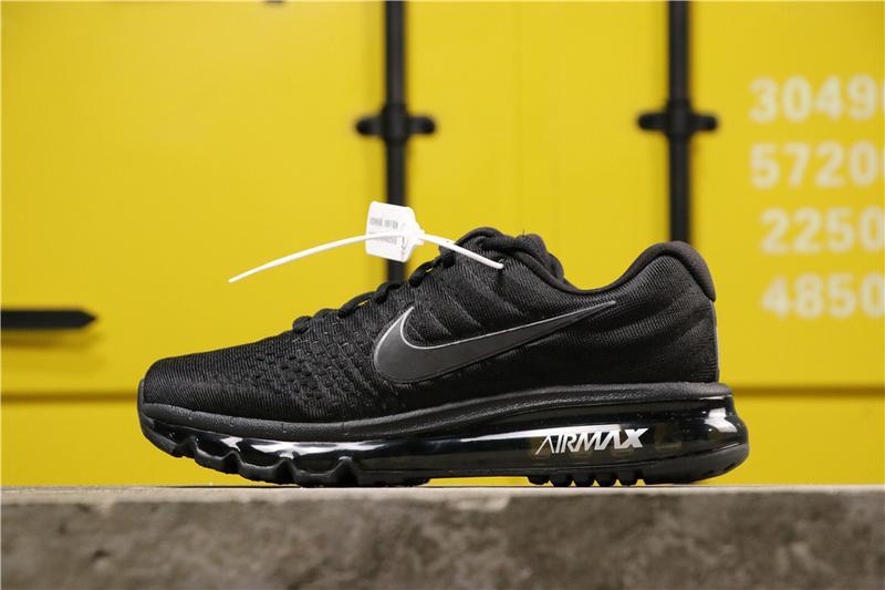 Original Authentic_Nike_Air_Max 2017 Men And Women Full Palm Air Running Shoes 849559-001 Đang Ưu Đãi