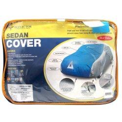 Deflector DCCB-S4-SB Car Cover for Sedan (Silver/Blue)