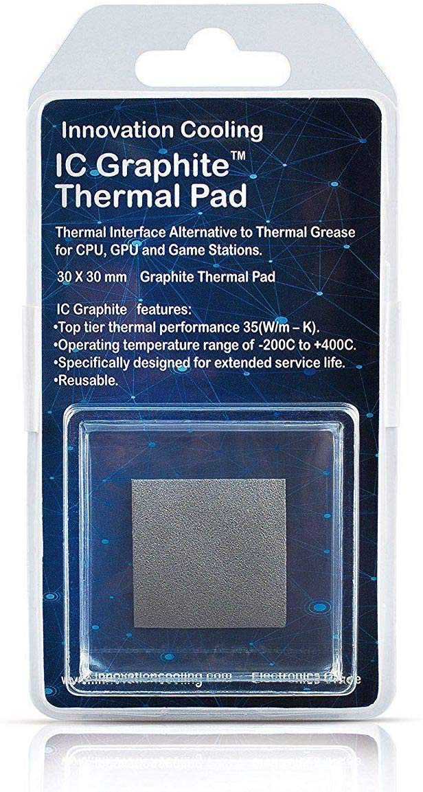 Alternative To Thermal Paste 40x40mm Innovation Cooling IC Graphite Thermal Pad