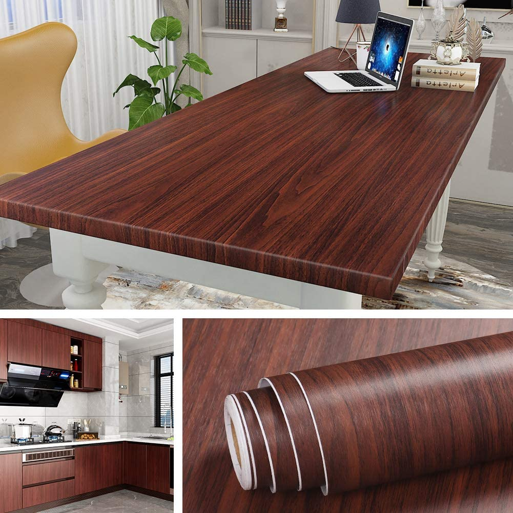 45cm X 10m Wood Contact Paper Kitchen Cabinet Desk Countertop Paper Peel And Stick Wallpaper Wood Adhesive Paper For Furniture Waterproof Removable Black Walnut Lazada Ph