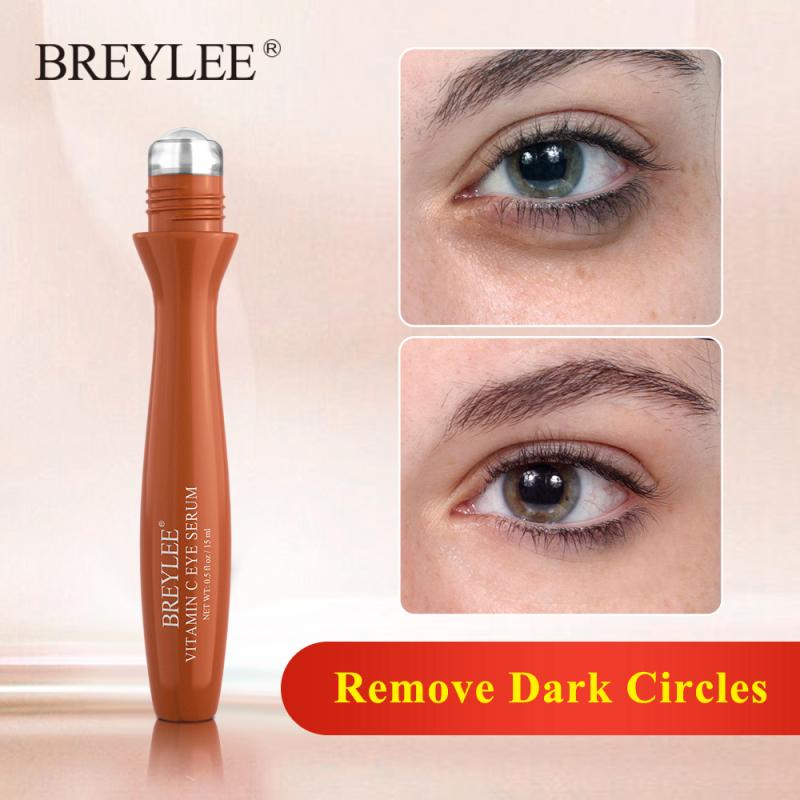 BREYLEE Serum Mát Xa Mắt Kem Mắt Vitamin C Làm Trắng Mặt Nạ Mắt Loại Bỏ Quầng Thâm Melanin Làm Sáng Chống Nếp Nhăn Dụng Cụ Làm Đẹp Tinh Chất Chăm Sóc Da 15Ml giá rẻ