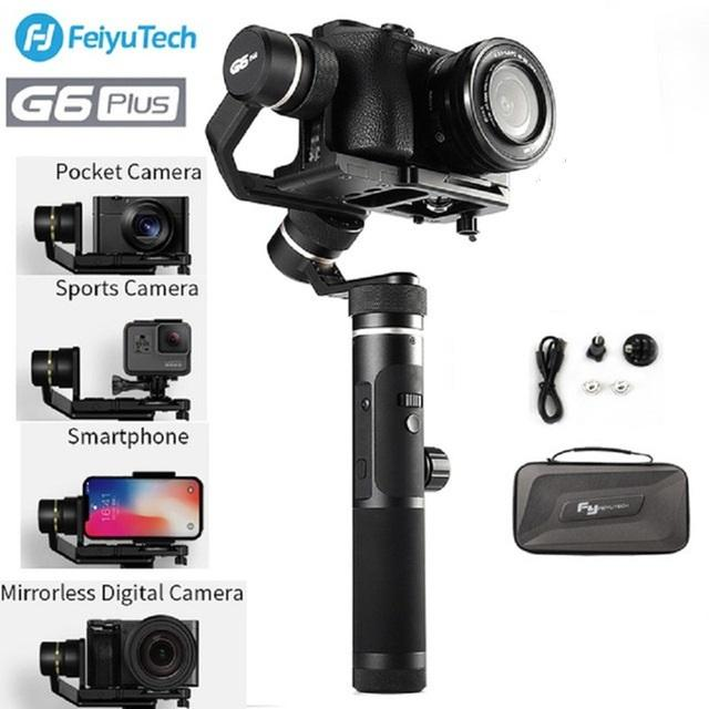 100% original FeiyuTech G6 Plus 3-Axis Handheld Gimbal Stabilizer for  Mirrorless Camera Pocket Camera GoPro Smartphone Payload 800g Feiyu G6P