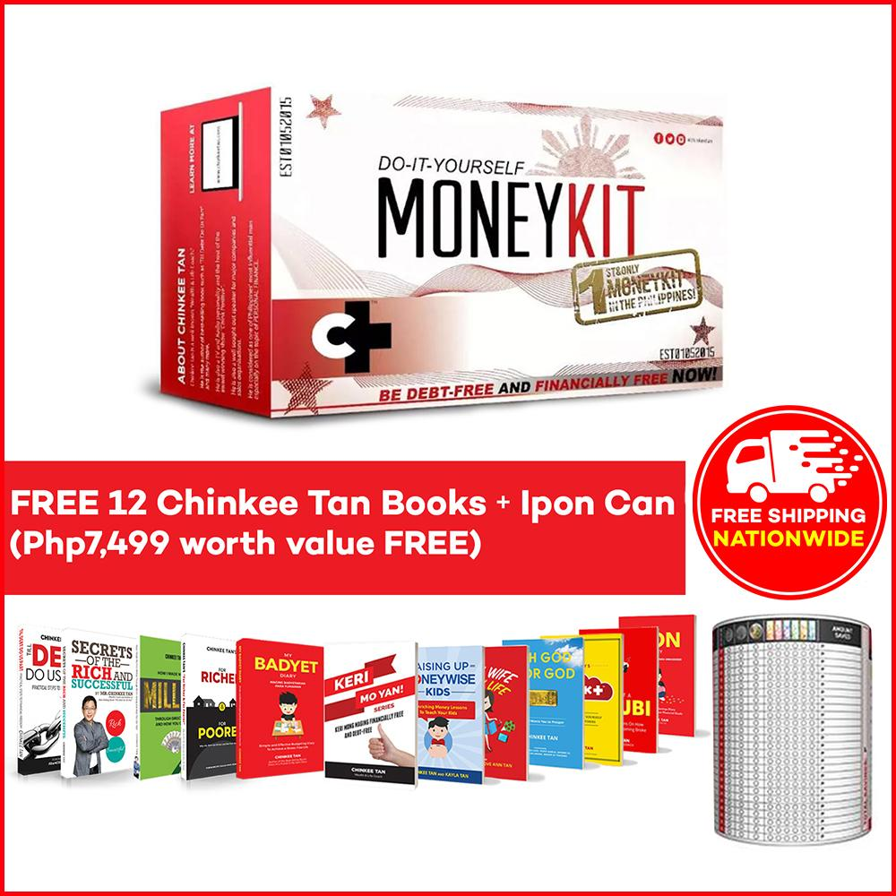 Chink+ MoneyKit 2 0 + 12 FREE BOOKS + 1 IPON CAN by Chinkee Tan - The Best  Seller Do It Yourself Money Kit