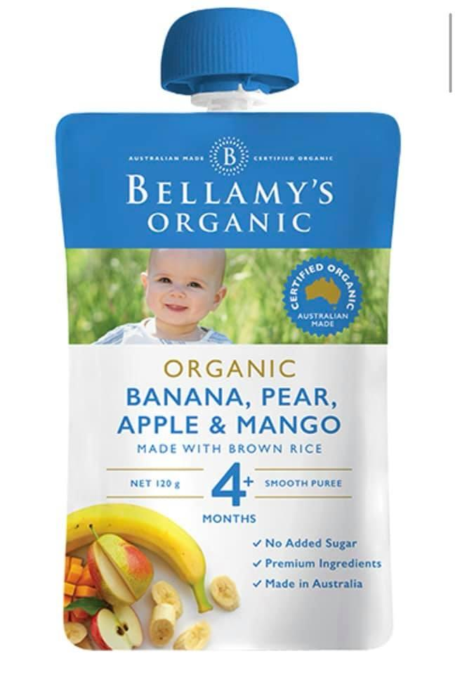 Bellamys Banana Pear, Apple And Mango Organic Baby Food ( 4 Month + ) By Ozs Best Goodies Merchandise.