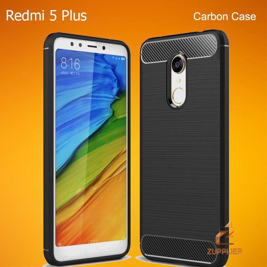 Xiaomi Redmi 5 Plus Case Premium Carbon Fiber Brushed Soft TPU