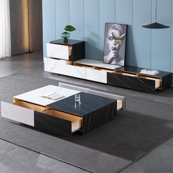 Minimalist Rock Teapoy Table Tv Cabinet Unit Post Modern Light Luxury Northern Europe Living Room Designer Customizable Teapoy Table Floor Cabinet Lazada