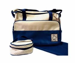 Diaper Bag With Changing Pad And Pouch With Adjustable Strap
