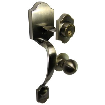 Dorma Imperial Throw Deadbolt Heavy Duty Handleset Antique Brozen