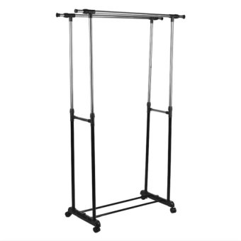 Double Pole Stainless Steel Clothes Rack - picture 2