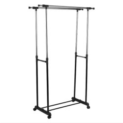 Double Pole Stainless Steel Clothes Rack