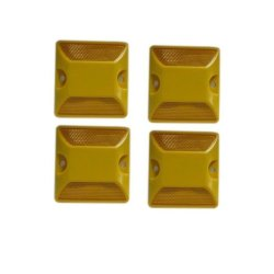 Double Sides Load Road Stud Set of 4 (yellow/orange)