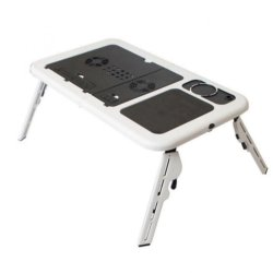 E-Table Foldable Laptop Cooler (White)