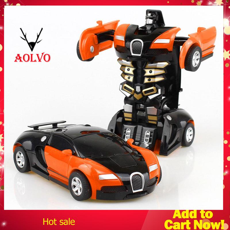 Transform Car,Rescue Bots Deformation Car One-Step Car Robot Vehicle Model  Action Figures Toy Transform Car for Kids New Year Gift