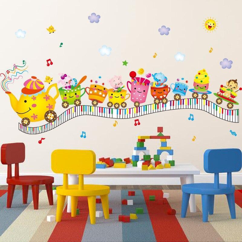 Removable Cartoon Fruit Train Wall Sticker Vinyl Decal DIY Room Home Mural Decor