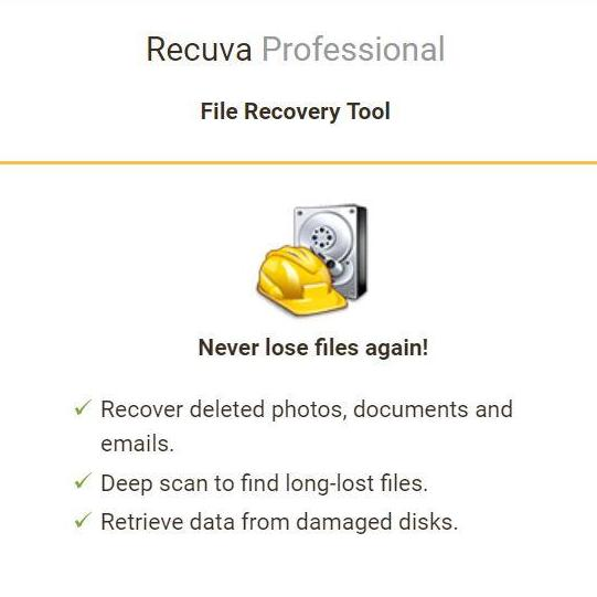 Recuva Professional (Latest Version) with License Key / Multiple PCs /  Lowest Price