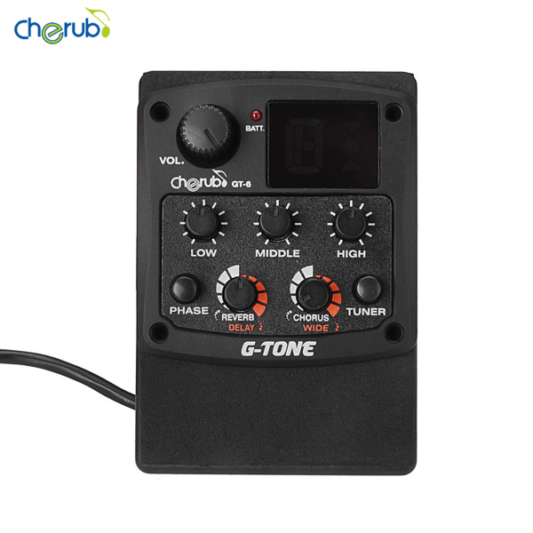 okoogee Cherub G-Tone GT-6 Acoustic Guitar Preamp Piezo Pickup 3-Band EQ Equalizer LCD Tuner with Reverb/Delay/Chorus/Wide Effects Malaysia
