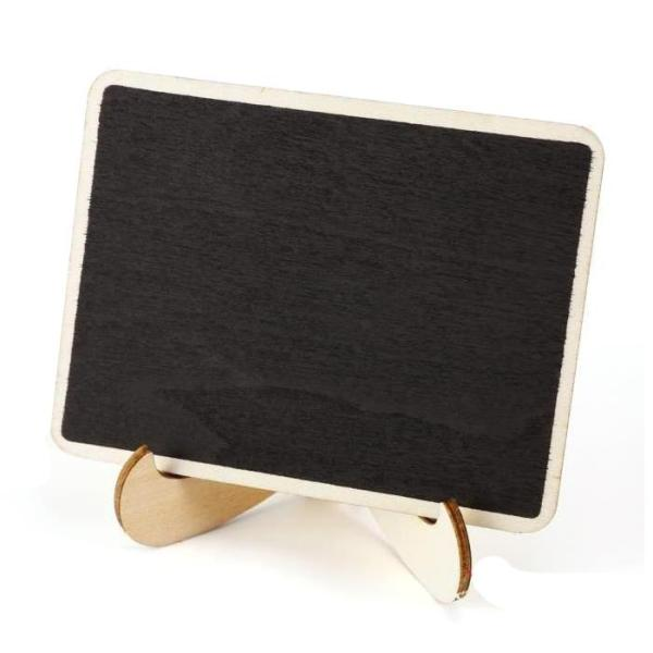 Bảng giá 24 Pieces Mini Hanging writable erasable Blackboard in Wood Message board Wooden Table Decoration board for Wedding and Party Write message for holidays ,wedding, restaurant, cafe bar # 624 Điện máy Pico