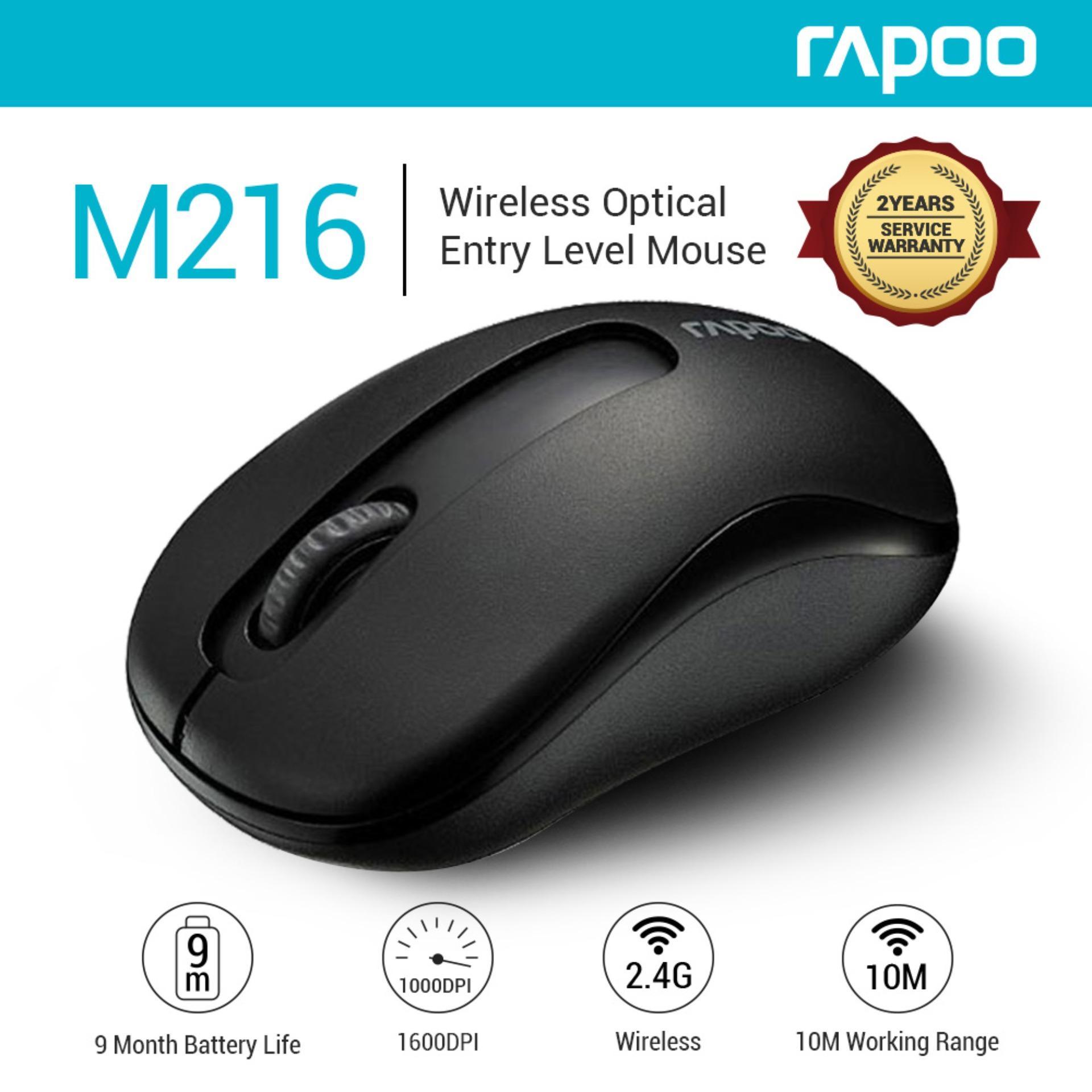 880b121dec4 Rapoo M216 2.4G Wireless 10m Working Range DPI 1000 Wireless Mouse Notebook  Desktop Wireless 2.4