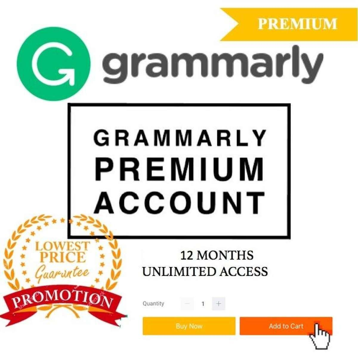 Grammarly Premium Account 2 Years Subscription Become a Better Student in  English Great For English Online Tutor Study English Plagiarism Detector