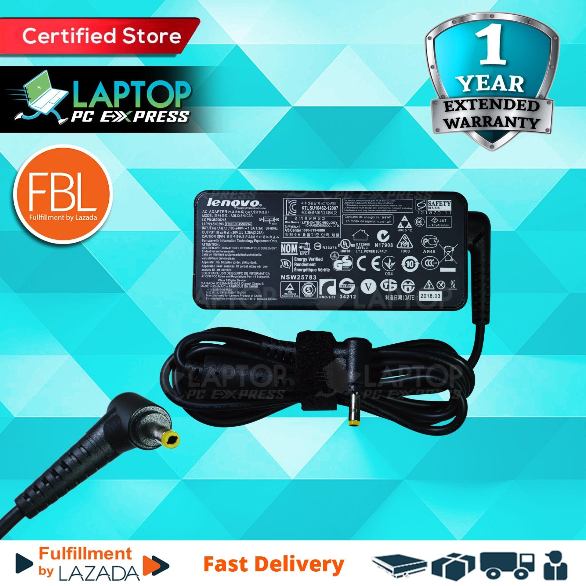 Lenovo Laptop Charger 20V 2 25A 4 0mm x 1 7mm Ideapad 100 14IBY , Ideapad  100 15IBY , Lenovo IdeaPad 110 710 510 310 YOGA 710 510 Flex 4 11 14 15