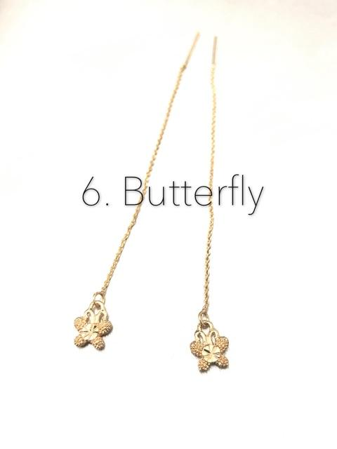 725b83af3 [ZOVSKI] Bangkok Rose Gold plated Butterfly Style Fashion Dangling Earrings