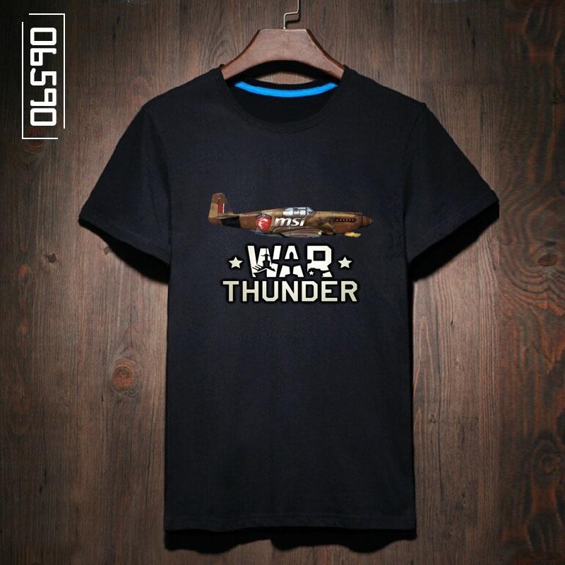 04f406374dbe Men s Black T-Shirt WW II War Thunder British World War II Fighter spitfire  Punk