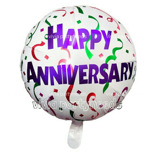 18inches Happy Anniversary Foil Balloon By Ah K Asta Store.