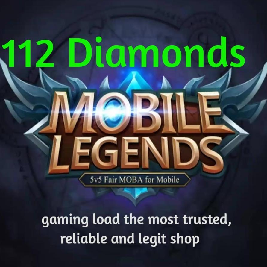 112 Mobile Legends Diamonds By Gaming Load.