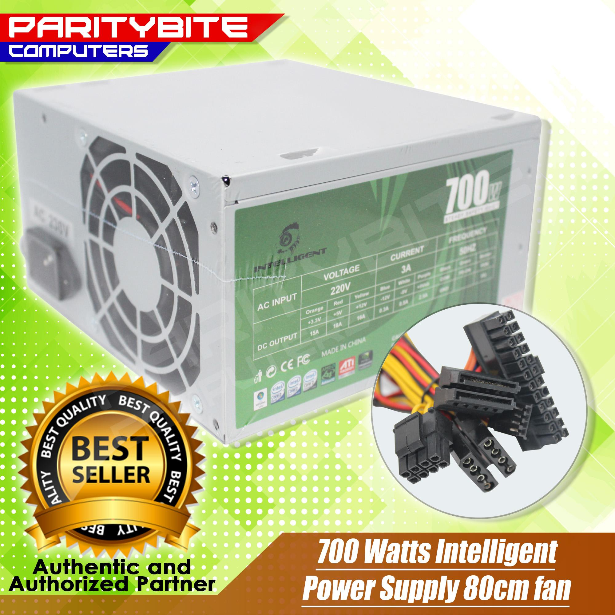 700 Watts Intelligent Power Supply 80cm Fan By Paritybite Computers.